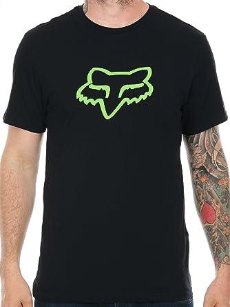 Camiseta Fox Legacy Foxhead Negro-Verde (S, Negro): Amazon.es: Ropa y accesorios