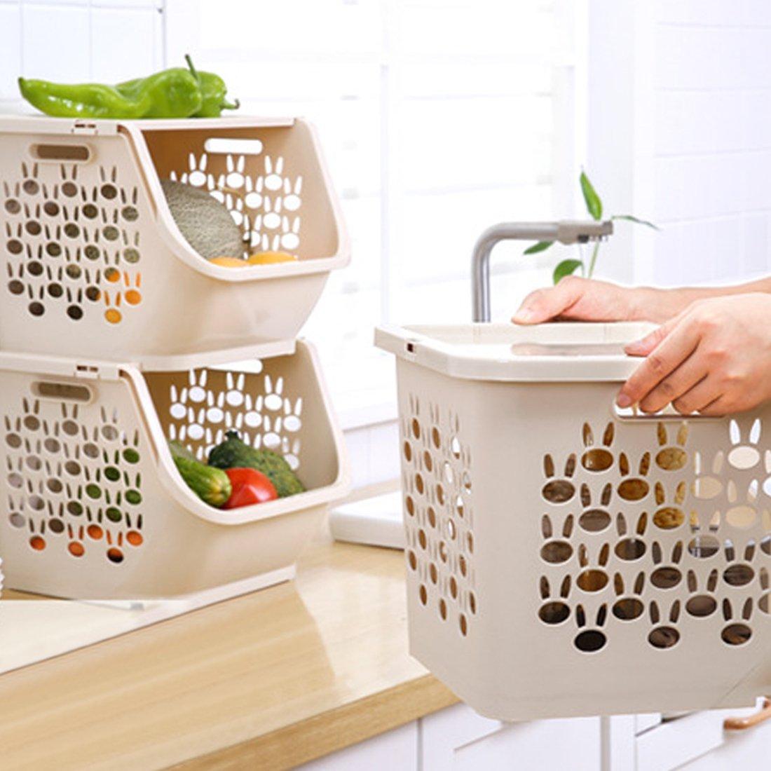 Aufbewahrung Obst Küche | Ovitop 3er Set Obst Und Gemuse Korb Obst Aufbewahrung Obst Und