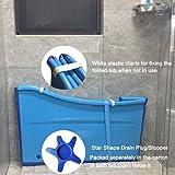 Weylan tec Large Foldable Bath Tub Bathtub For Baby Toddler Children Twins Petite Adult Blue