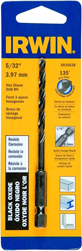 Cobalt Drill Bit Size #12 Black Oxide Threaded Shank Drill Bit 135/° Drill Bit Point Angle
