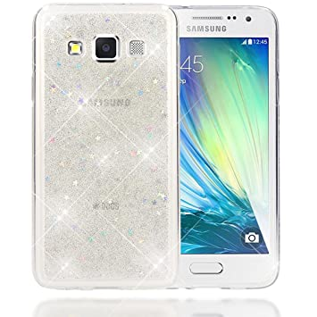 best website 29f34 7dec2 NALIA Glitter Case compatible with Samsung Galaxy A3 2015, Thin Sparkle  Stars Silicone Back Cover, Protective Slim Shiny Protector, Shockproof  Crystal ...