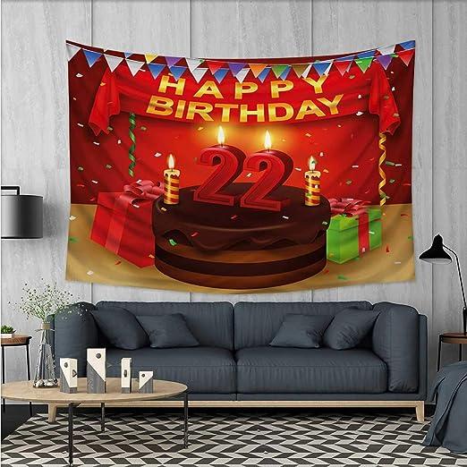 Anhuthree - Tapiz de Pared para 20 cumpleaños, impresión 3D ...