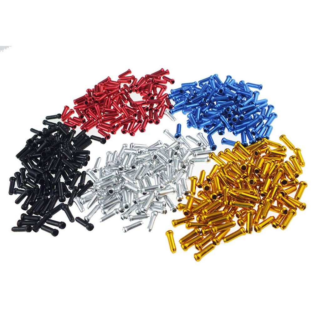 Alloy Mountain Bicycle Brake Cable Cap End Tips Crimp Cycling Equipment PIPIHUA 20 Pcs Cable End Brake Cable Cap