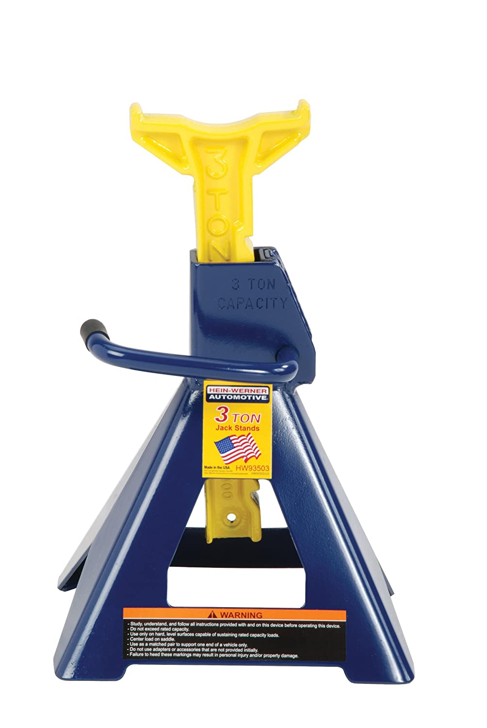 Hein-Werner Blue/Yellow Jack Stands, 6 Ton Capacity