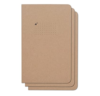Northbooks Usa Eco Dotted Journal Bullet Notebook | 3 Notebooks With Dot Grid Pages | Premium Recycled Thick Paper | 5x8 by Northbooks