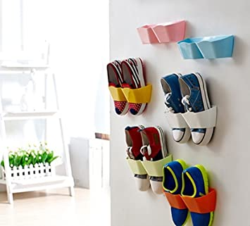 yosoo 4stk creativos Muebles Decoración Plástico zapatero para la puerta colgar hängeorganizer para puerta guantes estante de pared festkleben Diseño Puerta ...