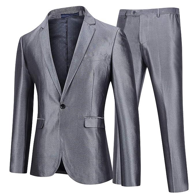 YOUTHUP Traje para Hombres Blazer y Pantalones Elegantes ...