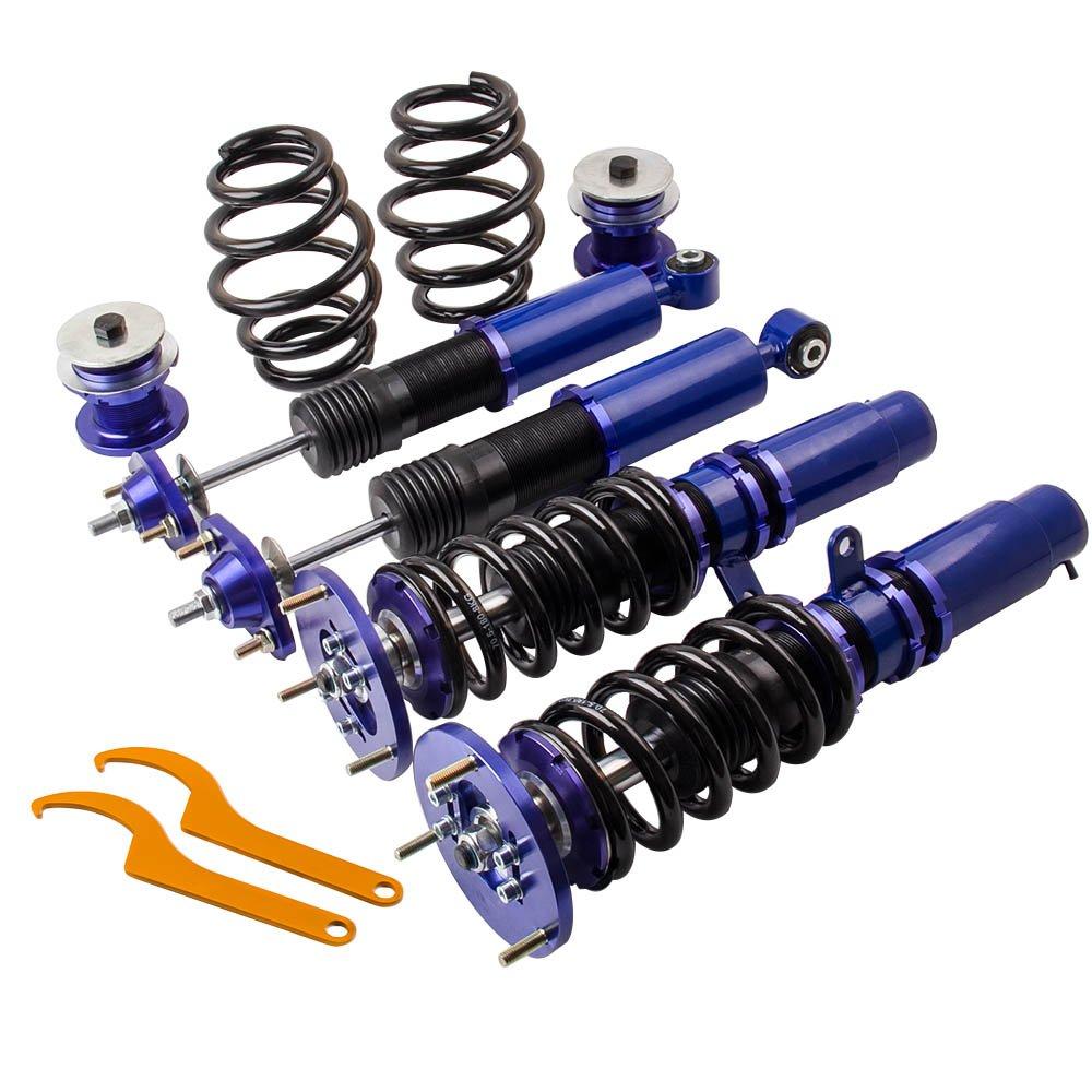 Coilovers Shock Suspension for 1998-2006 BMW E46 320i 323i 323Ci 325i 325ci 328i 328Ci 330i 330Ci M3 with Non-Adjustable Damper - Blue
