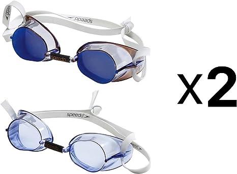 Destello Estallar comedia  Speedo Sweedish - Juego de 2 gafas de natación para adultos, color azul  (paquete de 2): Amazon.es: Deportes y aire libre