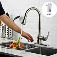Forious Touchless Kitchen Sink Faucet With Pull Down Sprayer, Single Handle  For Automatic Motion Sensor
