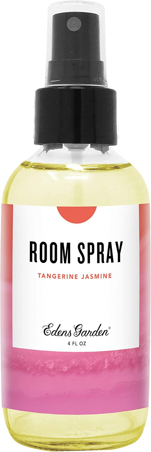 Edens Garden Tangerine Jasmine Aromatherapy Room Spray, All Natural & Made with Essential Oils (Great Home Air Freshener - Try Using On Pillows & Linens for Sleep), 4 oz