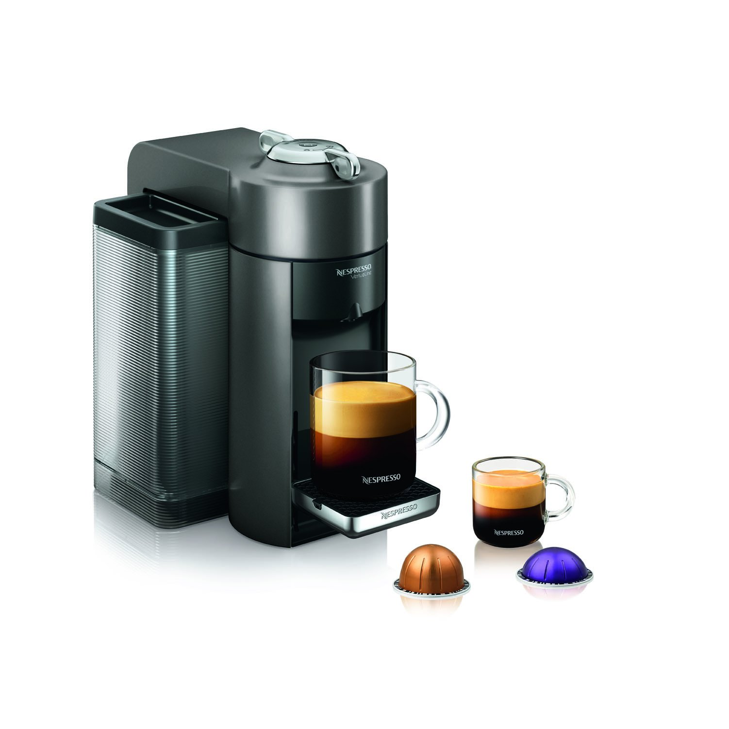 Nespresso GCC1-US-GM-NE VertuoLine Evoluo Deluxe Coffee and Espresso Maker, Graphite Metal (Discontinued Model)