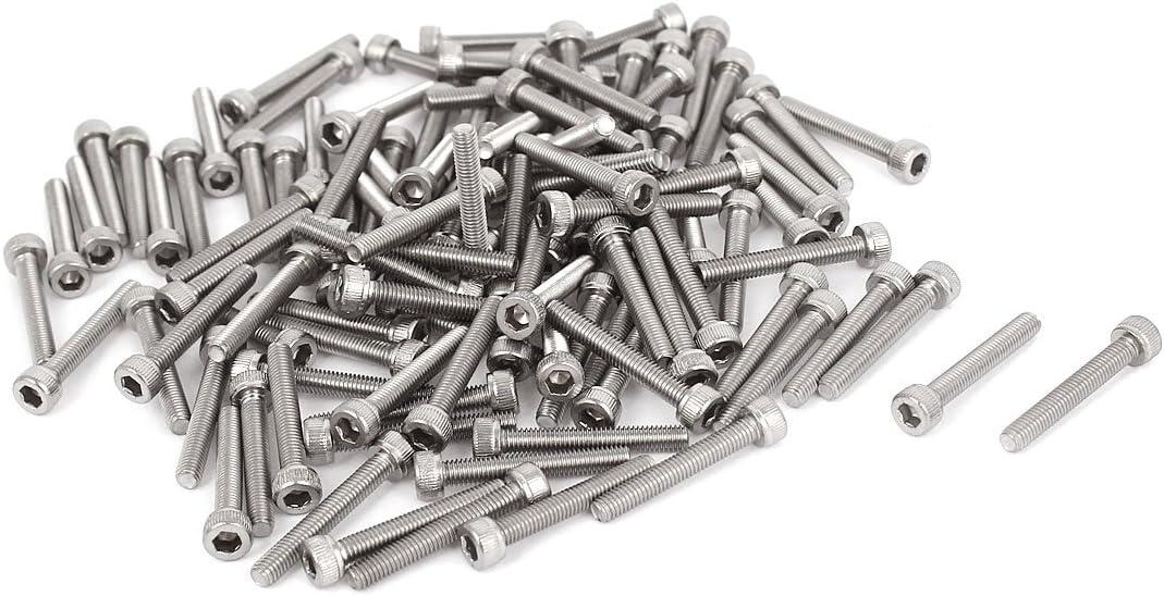 20 pcs M3 x 15mm Long Steel Wood to Metal Dowel Screws or Hanger Bolt