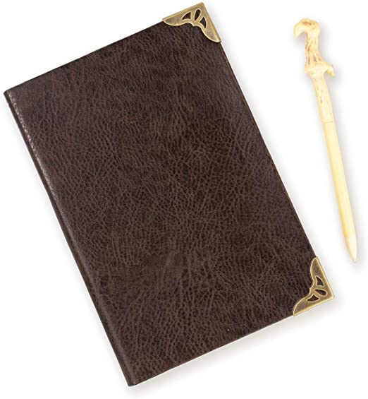 Harry Potter Tom Riddle Journal with Voldemort Wand Pen - 192 Blank Pages - 8.5