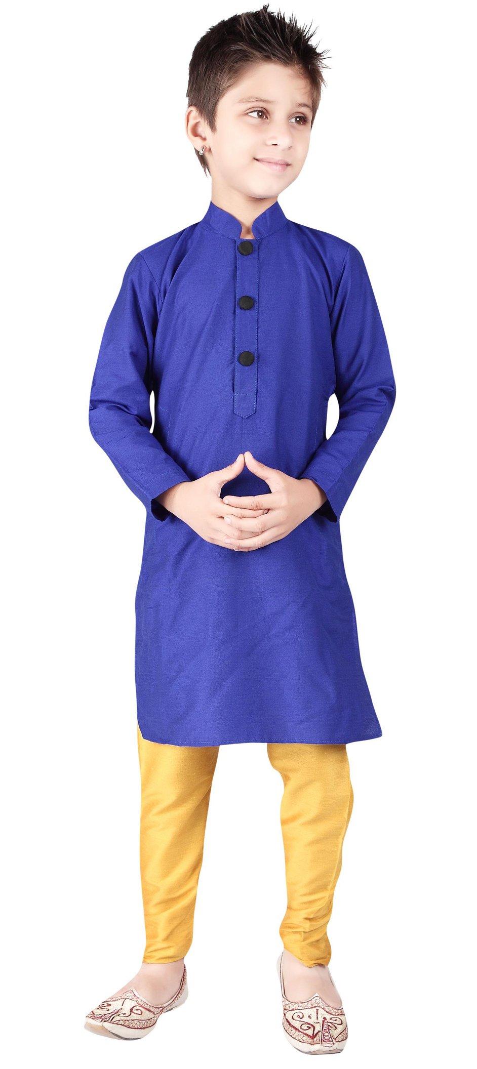 Kid's Dupion Silk Kids Kurta Pajama Dress Eid Festival Special Churidar Pant Set