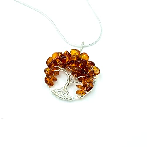 4.58 grams natural: authentic fossilized tree resin from Thailand Antique Amber Pendant Beautifully hand-made Silver Case.