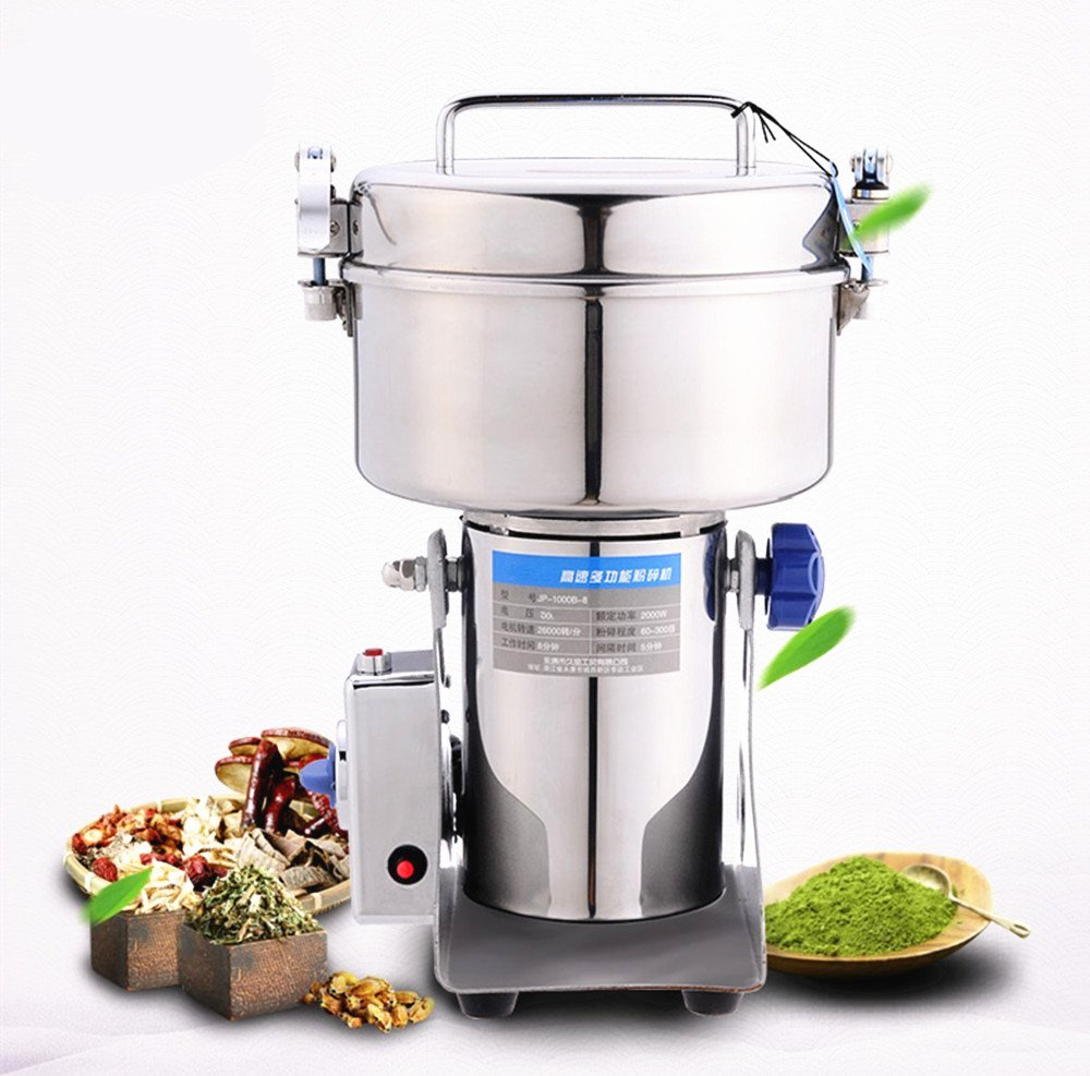 BAOSHISHAN 300g Commercial Electric Grain Grinder Spice Herb Cereal Mill Pulverizer (110V)