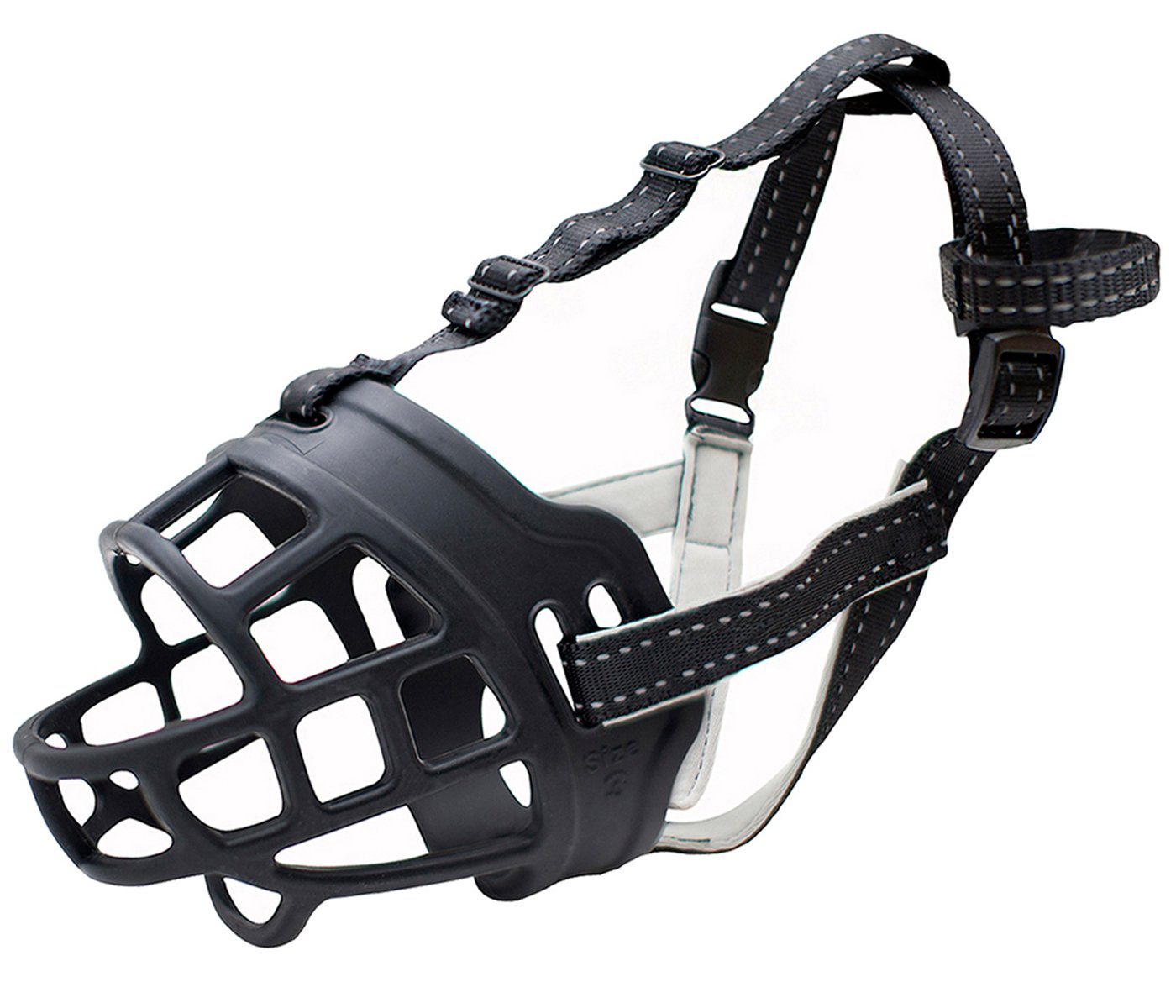 Silicone Basket Dog Muzzles, Breathable and Adjustable, Allows Drinking, Panting, and Eating,Large(size 4)