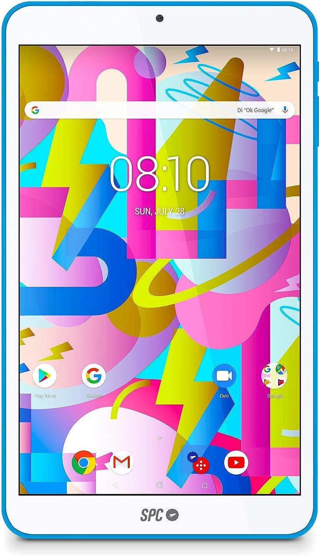 SPC Lightyear - Tablet android con pantalla IPS de 8 pulgadas, memoria interna 16GB, RAM 2GB, WiFi y Bluetooth – Color Azul: Spc: Amazon.es: Electrónica