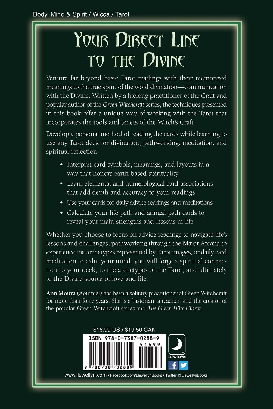 Tarot For The Green Witch Ann Moura 9780738702889 Amazon Books