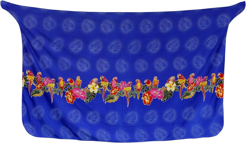 LA LEELA Printed Soft Light Tie Slit Aloha Bali Women Sarong