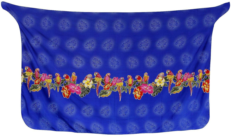 LA LEELA d Form Sarong Zeitkleidung Bikini-Badeanzug Coverup Badeanzug einpacken blau 135370