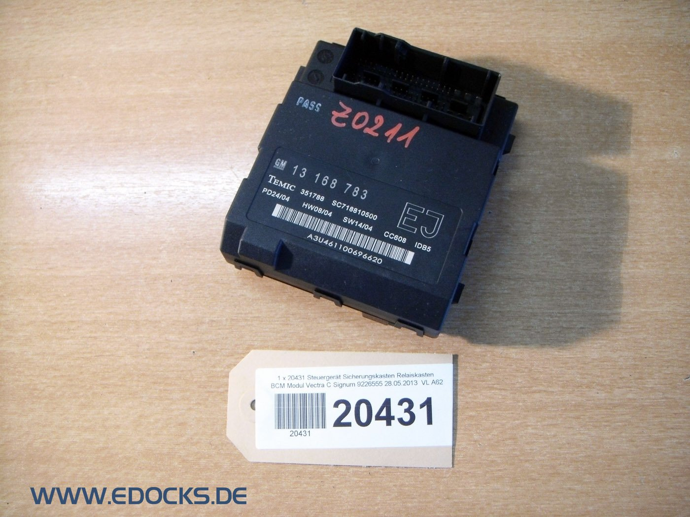 Fuse Box ECU RELAY BOX BCM Module Vectra C Signum Opel: Amazon.co.uk: Car &  Motorbike