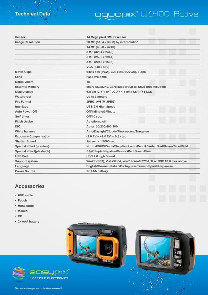 Navitech Lila Digitalkamera Tasche fr Aquapix W1400 Active mit ...