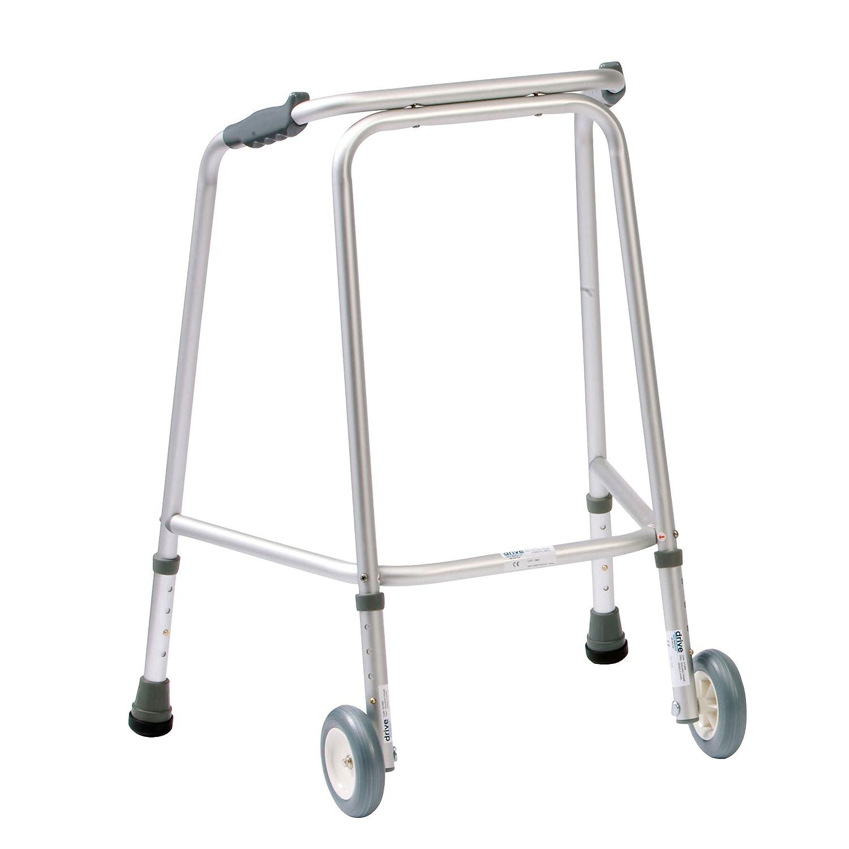 NRS Healthcare - Andador (con ruedas) altura ajustable: Amazon.es ...