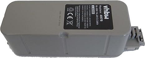 vhbw Batería NiMH 3300mAh (14.4V) para aspirador, Roboter Vileda M ...