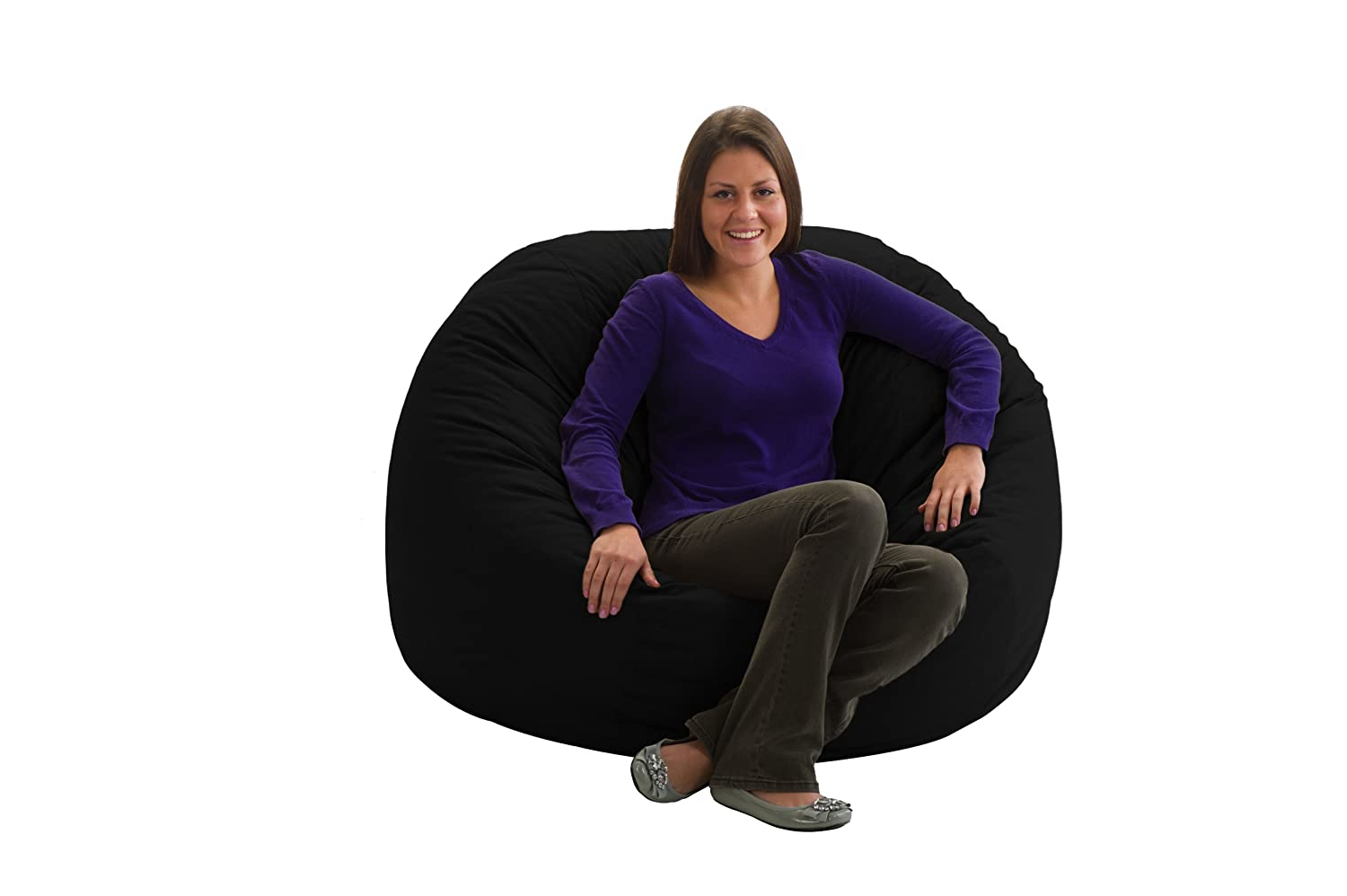 Comfort Research Fuf Large Foam Bean Bag Chair, Black Twill: Amazon.ca:  Home U0026 Kitchen