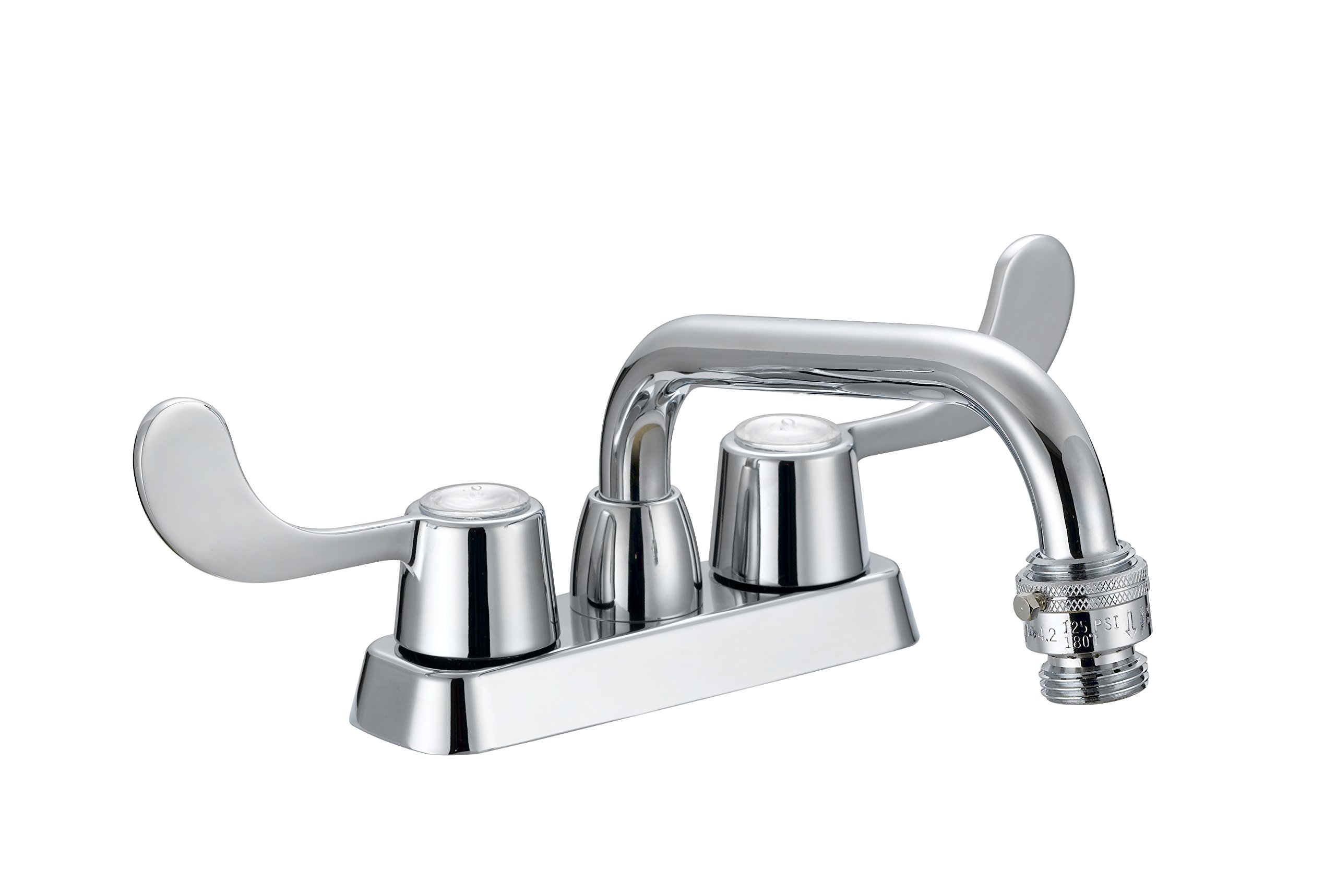 LDR 013 52280CP Laundry Faucet, Heavy Duty, Double Handles, Vacuum Breaker, Chrome by LDR Industries