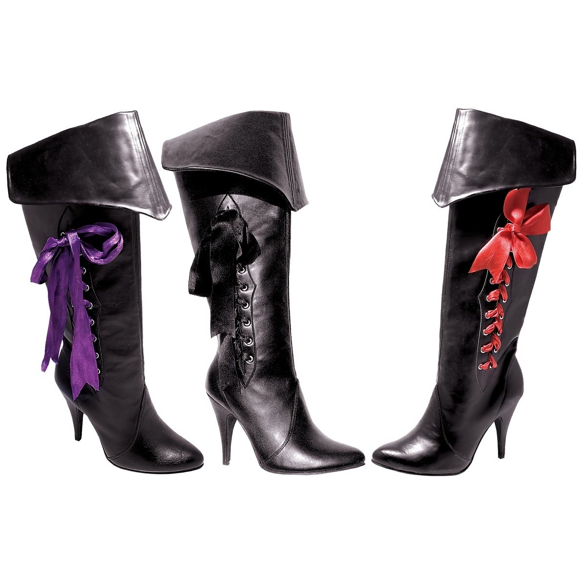 Women's 418 Ribbon Laced Lady Pirate Boots - DeluxeAdultCostumes.com