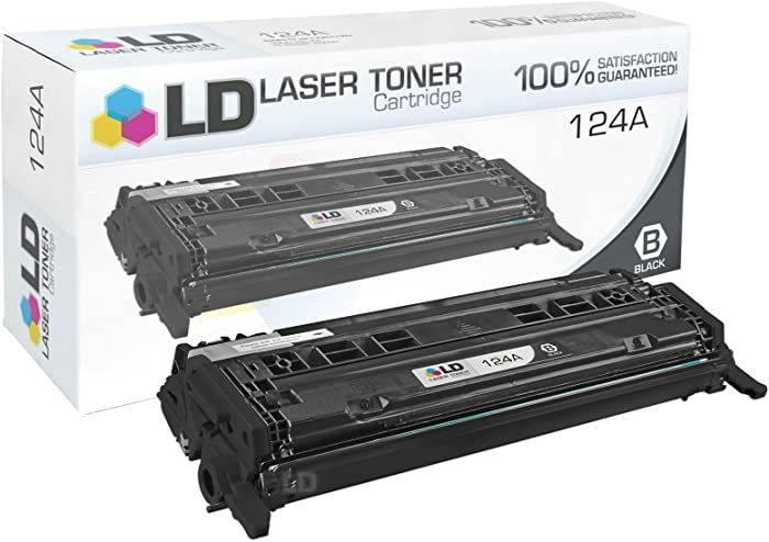 LD Remanufactured Toner Cartridge Replacement for HP 124A Q6000A (Black)
