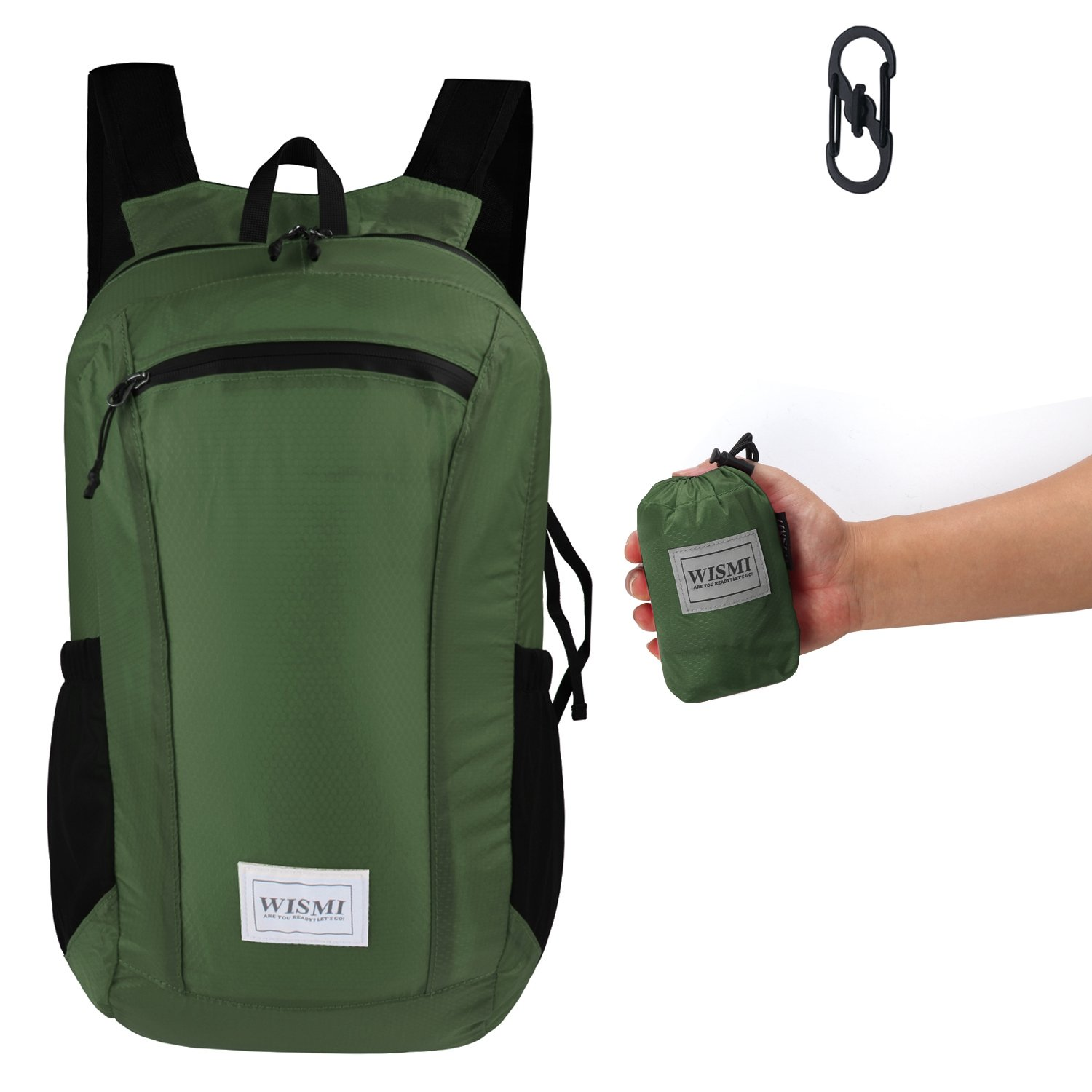 067a6715ac68 Amazon.com   SUNNY SHOP Lightweight Hiking Backpack Waterproof Foldable  Travel Bag Camping Daypack Army   Sports   Outdoors