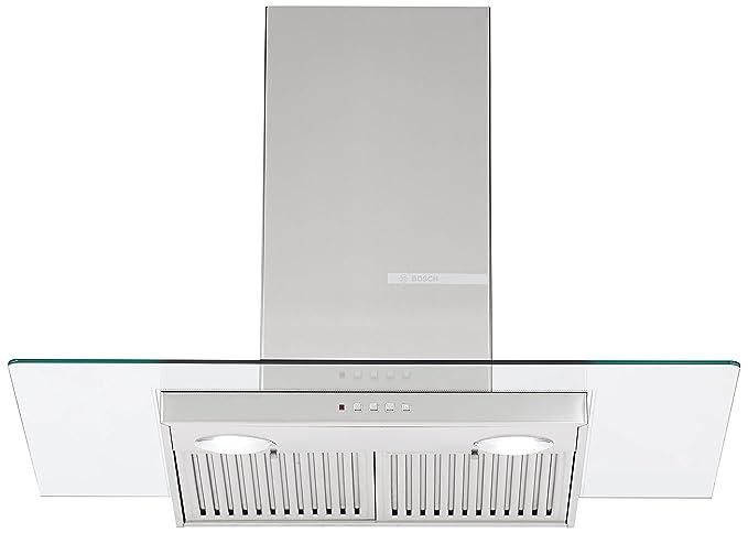 Bosch 90cm 800 m3/hr Chimney (DWG098D50I, 2 Baffle Filters, Steel/Grey)