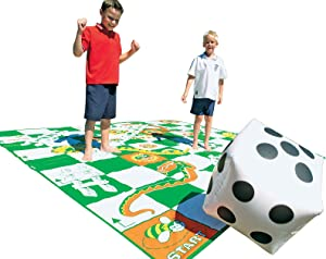 FlagHouse - Giant Snakes And Ladders - Large Inflatable Die - Large playing mat - Jumbo Board Game