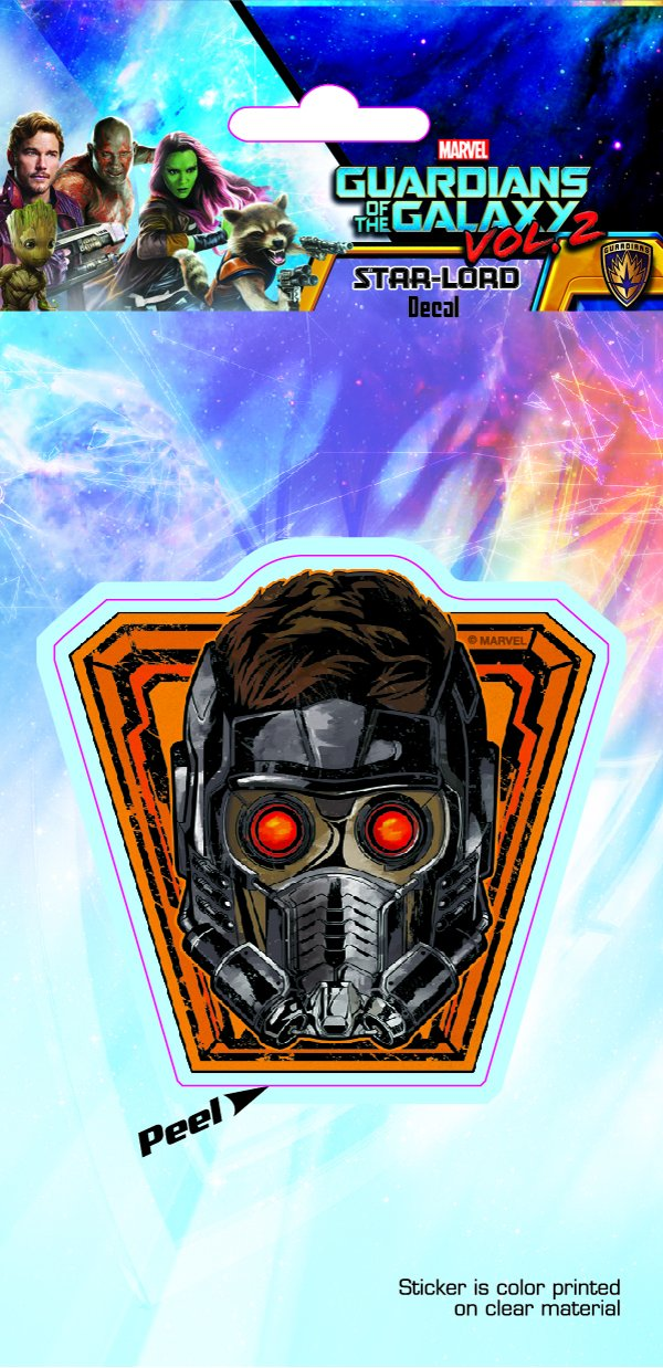 Guardians of the Galaxy ST MGOG2 STAR01/_4b8 Starlord Mask 4x8 Decal Sticker