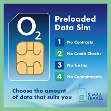 O2 - Tarjeta SIM precargada 4G/5G de datos de itinerancia libre en 47 países, sin contratos, sin compromisos, sin cheques de crédito, sin ataduras, válida durante 1 mes: Amazon.es: Electrónica