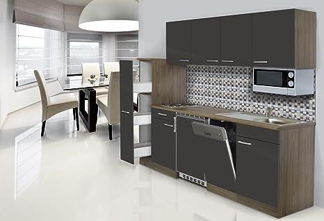 respekta - Blocco Cucina Singolo, 225 cm, in Finto Rovere York ...