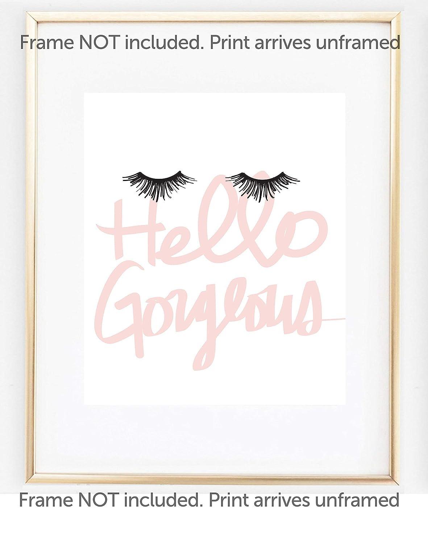 e58b4166e88 ... Gorgeous 8x10 (UNFRAMED) Print, Eyelash Art Makeup Poster, Makeup  Print, Dorm Decor, Girls Bedroom Wall Poster, Fashion Artwork Gift for Her.:  Handmade