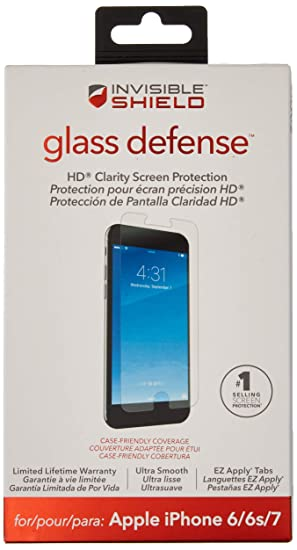 new product 44ab2 f66d1 Zagg-DNU InvisibleSHIELD Glass Defense iPhone 6/6s/7 Screen Protector