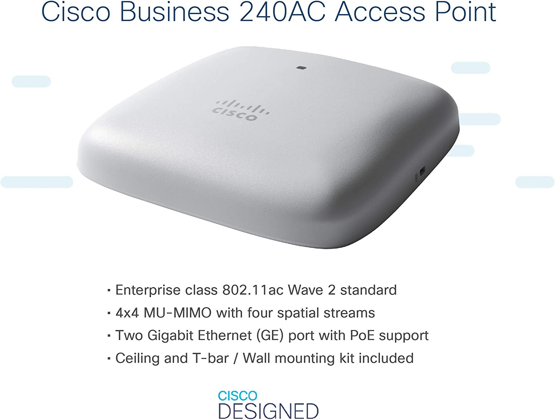 Cisco Systems Business 240ac 802 11ac 4x4 Wave 2 Access Computer Zubehör