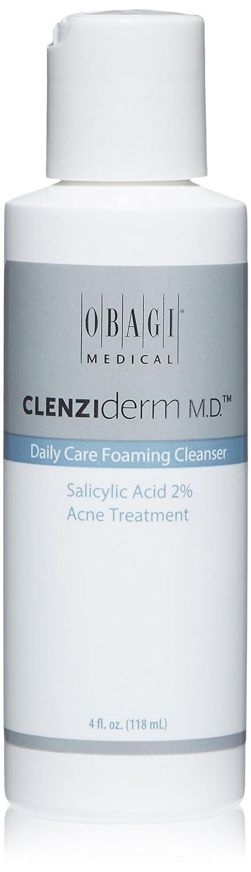 Obagi Medical CLENZIderm M.D. Daily Care Foaming Cleanser Salicylic Acid 2% Acne Treatment, 4 Fl Oz