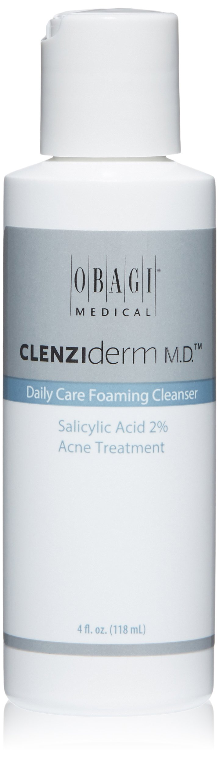 Obagi CLENZIderm M.D. Daily Care Foaming Cleanser Salicylic Acid 2% Acne Treatment, 4 Fl Oz by Obagi Medical