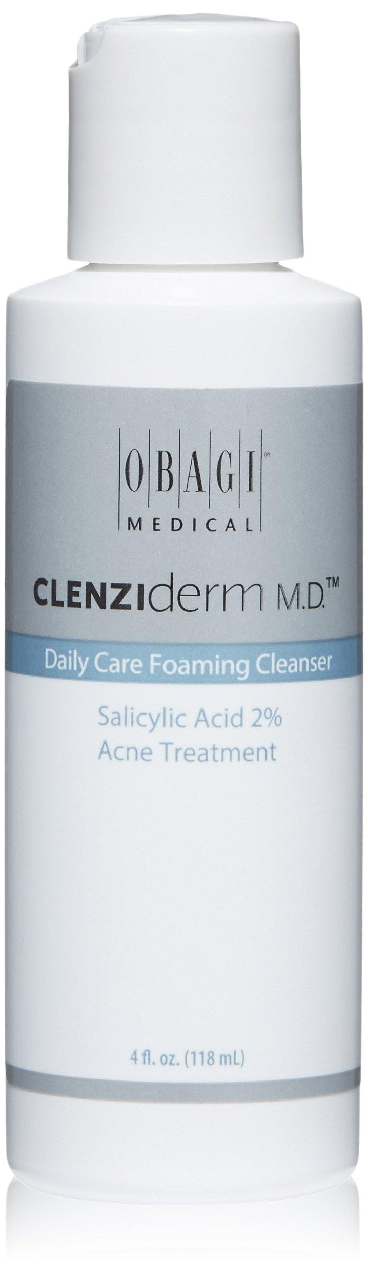 Obagi CLENZIderm M.D. Daily Care Foaming Cleanser Salicylic Acid 2% Acne Treatment, 4 Fl Oz