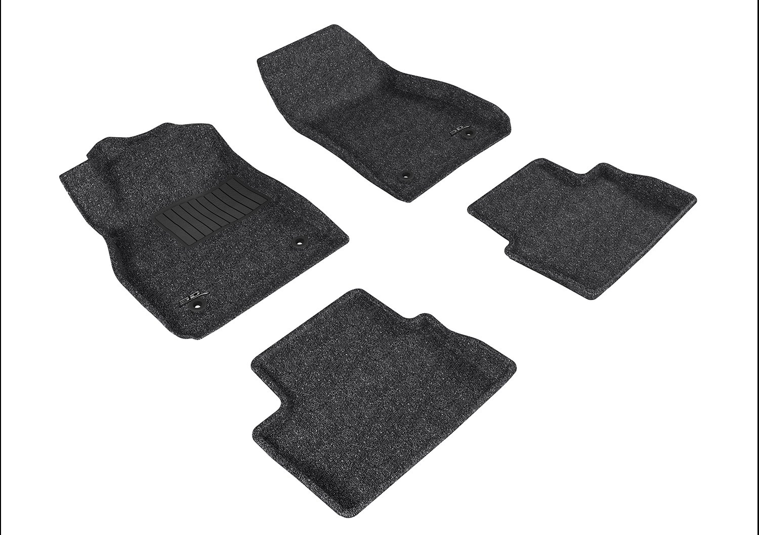 Tan 3D MAXpider Front Row Custom Fit All-Weather Floor Mat for Select Chevrolet Malibu Models L1CH06312202 Classic Carpet