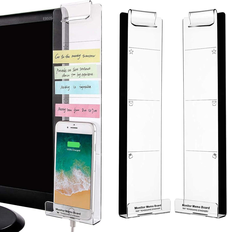 monitor memo note board computer screen card holder sticky office homYJUSHAAA