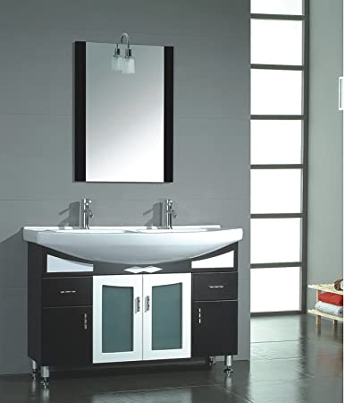 Excellent Kitchen Bath And Beyond Tampa Tall Cleaning Bathroom With Bleach And Water Round Bathroom Faucets Lowes Bathroom Vanities Toronto Canada Old Bathroom Expo Nj ColouredTiled Bathroom Shower Photos Amazon.com: 48 Inch Black Cherry Wood \u0026amp; Porcelain Bathroom Vanity ..