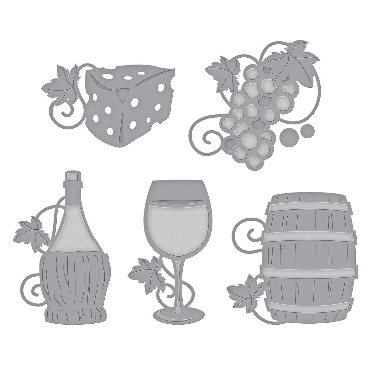Spellbinders Shapeabilities Wine Charms Etched//Wafer Thin Dies